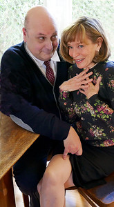 Show info: http://www.zspace.org/smut-an-unseemly-storyDr. Ballantyne (Søren Oliver) has designs on Mrs. Donaldson (Nancy Shelby)Photo by Mel Solomon