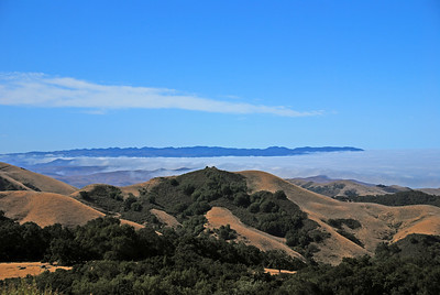 Looking southward: fog covered Morro Bay