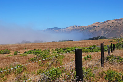 North of San Simeon, looking north towards Big Sur