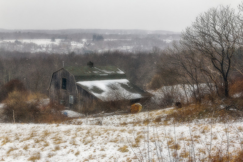 Barn in Litchfield, Connecticut, USA.