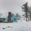 Snowing in Litchfield, Connecticut, USA.