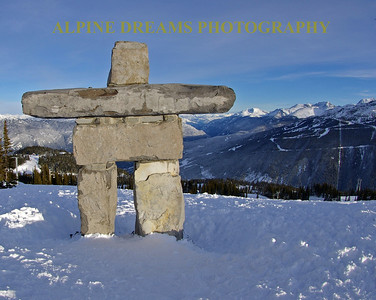 INUKSHUK looking at Blackcomb
