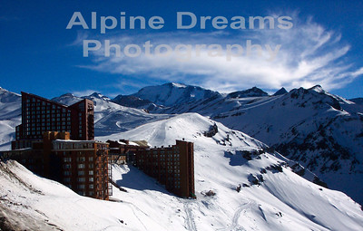 This was taken from the Heli-Pad      Yes they had Heli-Skiing here. In fact the ridgeline behind the hotels gave us some of the most breathtaking turns and scenery I have ever seen.     A half day counting the pocket rockets was $215  US dollars.   I think its gone up since 2003 though.