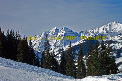 These are the famous Maroon bells about 10 miles from Aspen. If they aren't I am sorry. If they are I will get closer to them for future shots.