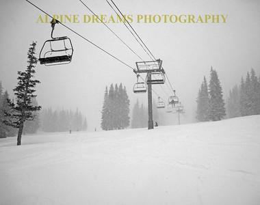 HEAVY SNOW  & CHAIRLIFTS