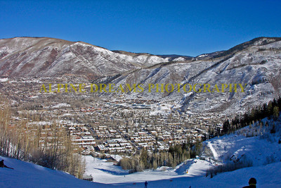 Looking down at Aspen from up on the mountain gives you a new perspective on location, location, location.