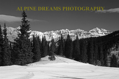 TELLURIDE AT NOON IN B & W
