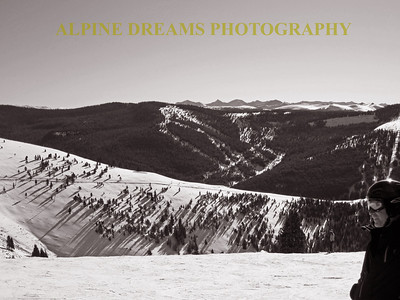 Called a SKIERS VIEW in Black & White this gives you some perspective why Skiers smile so much!
