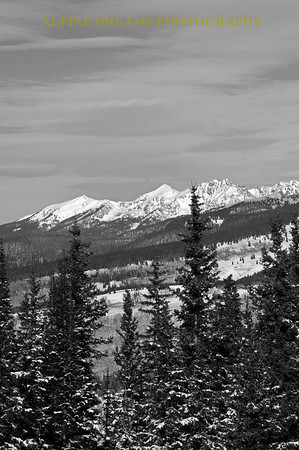 VIEWS from TWO ELK LODGE in Black & White...