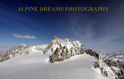 The view is amazing on top of Mount Blanc