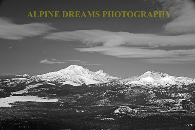 SPARKS LAKE & SISTERS IN BLACK & WHITE