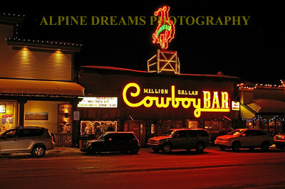 The Million Dollar Cowboy bar is a must visit if you are lucky enough to get to Jackson Wy.