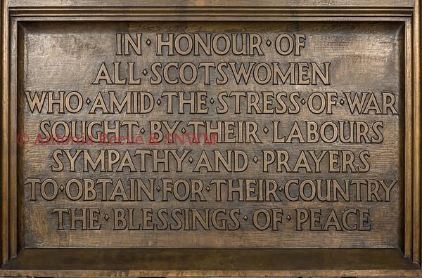 Women's Memorial, Detail