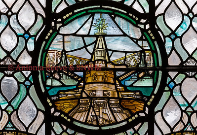 Navy Window- Battleship and Forth Bridge