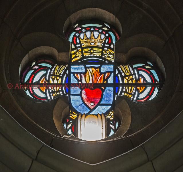 Detail of Shrine Dormer Window Illuminating St. Michael
