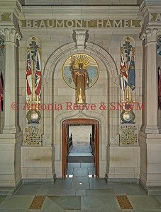 SNWM, Entrance South Wall, Doors, Reveille, Royal Marines Memorials