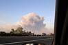 Taken from Fillmore, smoke from flare up in Santa Paula.