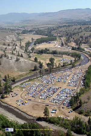 aerial views of camp from helicopter