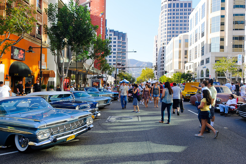 7/21/12  Glendale, CA - car show. ..  Downtown Glendale.  Four blocks of fantastic cars.