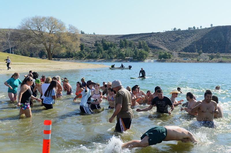 Polar Plunge Charity Swim at Castaic Lake 2/18/12