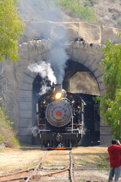 Railfest Fillmore, CA 3/24/12    Coming out of the tunnel.