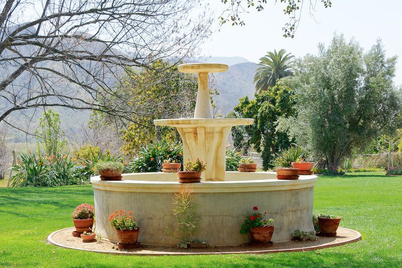 Rancho Camulos.  .  100+ year old fountain.  This place is georgeous.