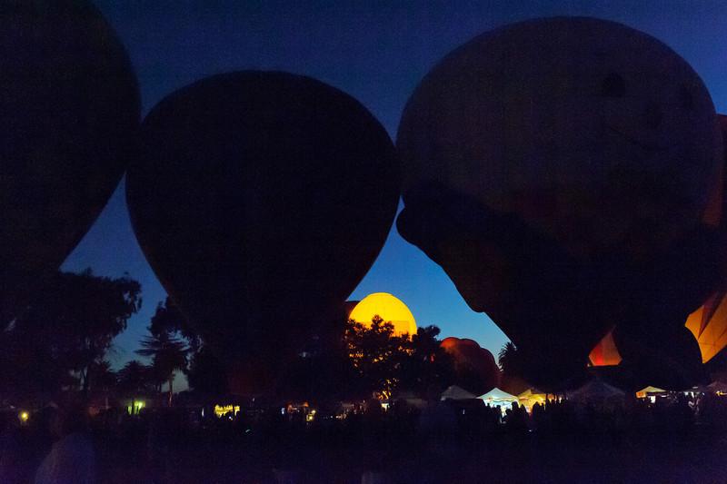 "7/27/12  Citrus Classic Balloon Festival in Santa Paula, CA ...    ...  ""Bad"" Limoneria coming over the horizon..."