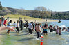Polar Plunge Charity Swim at Castaic Lake 2/18/12   Look at that finger pointing out there...  LOL