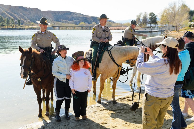 Polar Plunge Charity Swim at Castaic Lake 2/18/12  Law enforcement agencies and the FD do so much to help the cause.