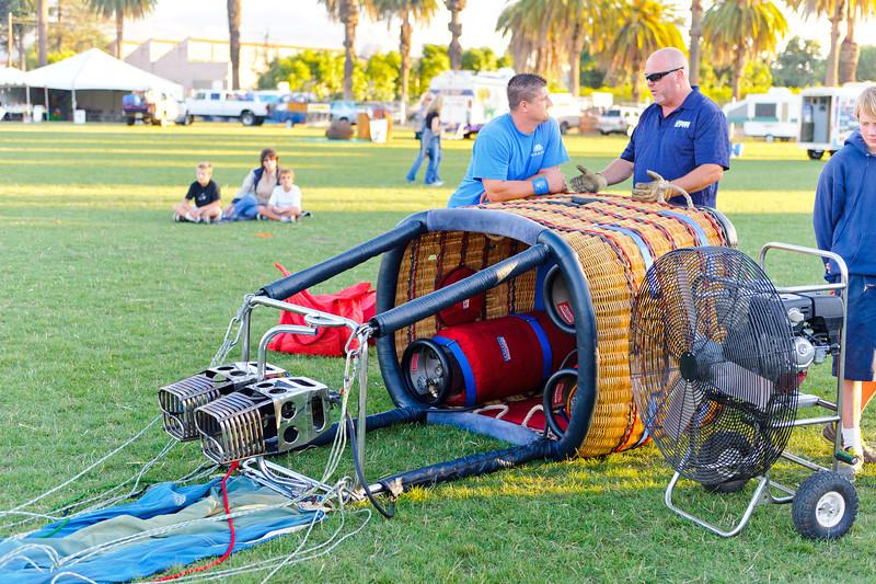 7/27/12  Citrus Classic Balloon Festival in Santa Paula, CA   Balloon power plant....