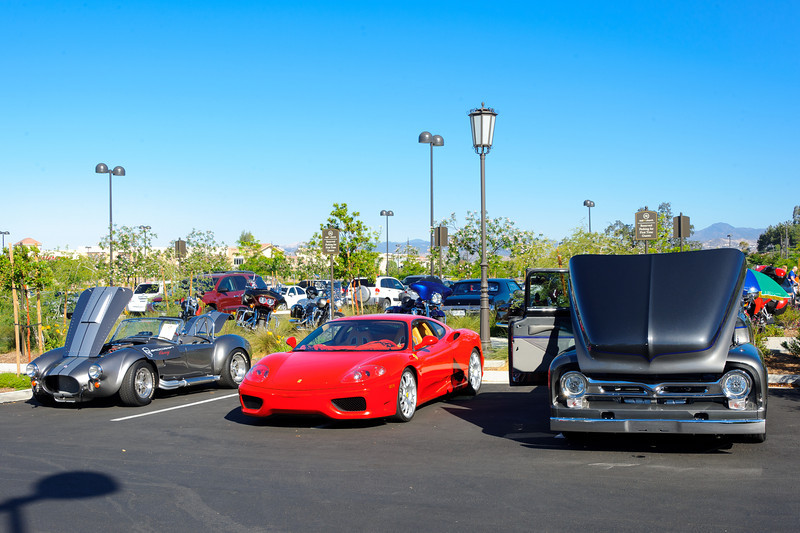 SC car show 6/17/12... Quite the collections here Cobra, Ferrari and a suicide doored Ford PU.