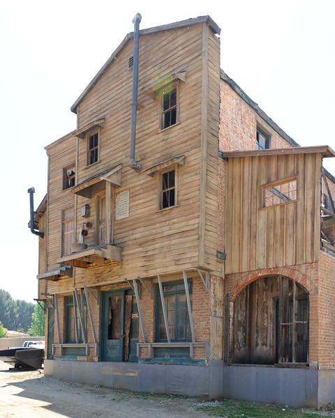 Cowboy Festival at Melody Ranch, Santa Clarita 4/22/12  Main Street.  Hotel on the back lot.