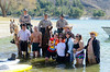 Polar Plunge Charity Swim at Castaic Lake 2/18/12   Love the smiles on these folks faces.  A good time was had by all.