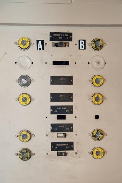 Railfest Fillmore, CA 3/24/12  Caboose fuse box, iso 12,800.