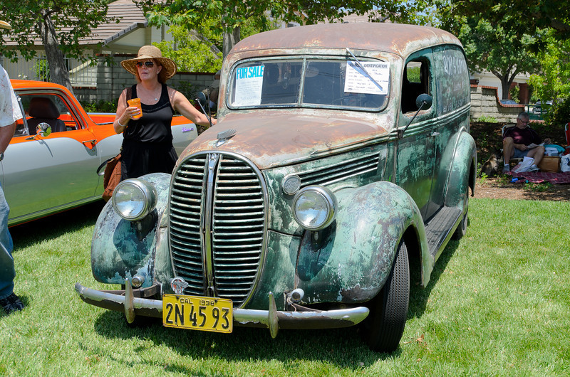 SCV Charity Blues Fest 6/2/12    ..  You can have this one for only $28,000 . '38 Chevy Panel.