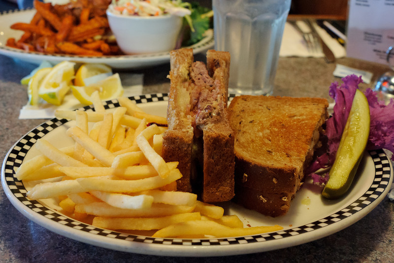 Lunch at the Rt. 66 Grill in Santa Clarita after the Century City visit.  Great patty melt!