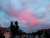 7/18/12  Crazy sunset Santa Clarita...  I've never seen a pink rainbow before!