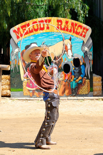 Cowboy Festival at Melody Ranch, Santa Clarita 4/22/12  One of the street entertainers