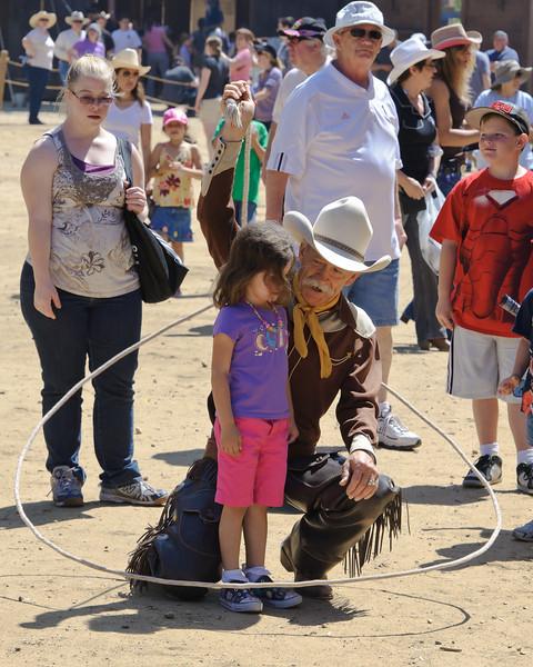 Cowboy Festival at Melody Ranch, Santa Clarita 4/22/12  Street performer.