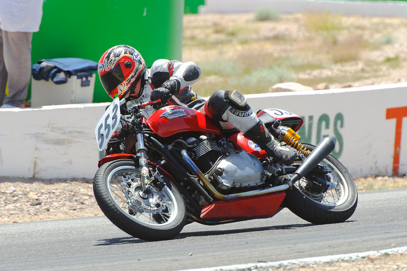 WSIR 4/28/12.  Some of everything happening...  One of the vintage bike guys on a Triumph.