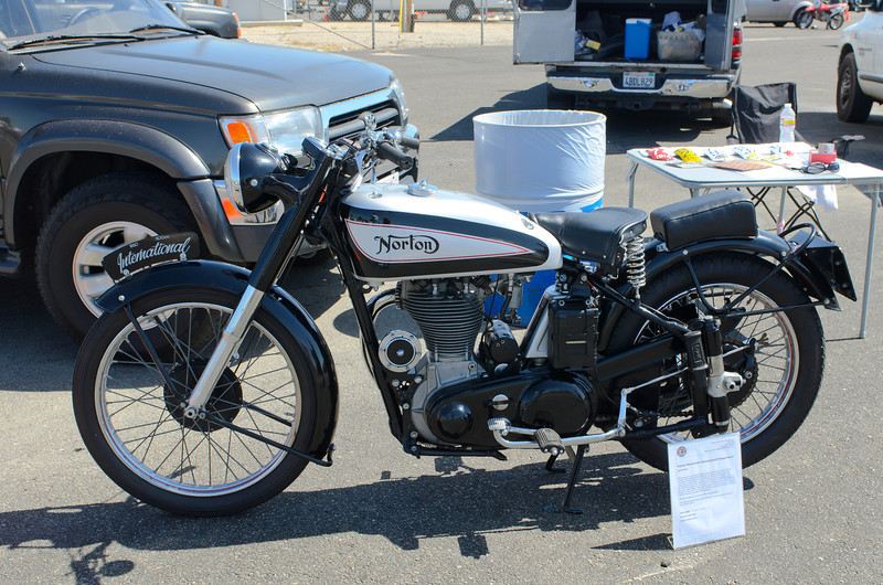 WSIR 4/28/12.  Some of everything happening...   1950 Norton.  Special deal today $29,000