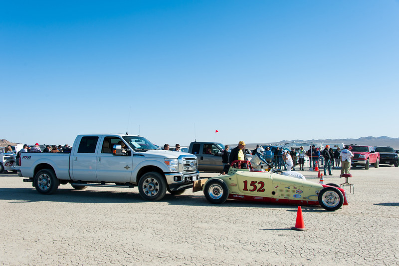 El Mirage dry lake bed.  SCTA Time Trials land speed event  5/18/13  At the starting line.