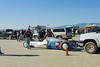 El Mirage dry lake bed.  SCTA Time Trials land speed event  5/18/13.  Lining up.