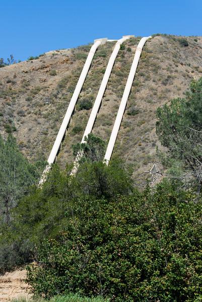 Bringing water to LA County from the North.  San Francisquito Canyon.  Santa Clarita, CA