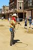 Melody Ranch.  Main Street with a real cowboy!