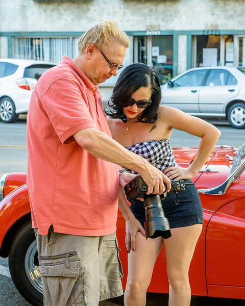 8/1/13  Car Slam Newhall, CA.  Model shoot.