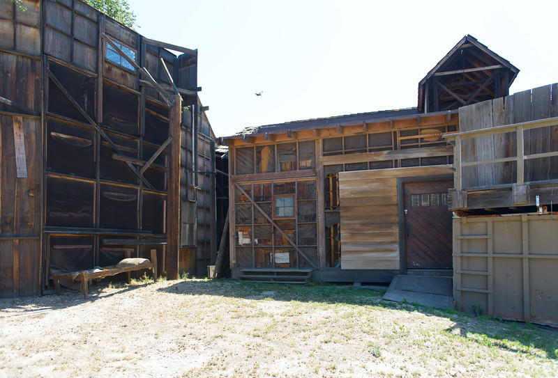 Melody Ranch.  Back side of some back lot buildings...