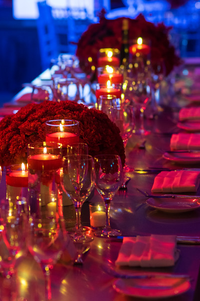 Candles + Table Setting