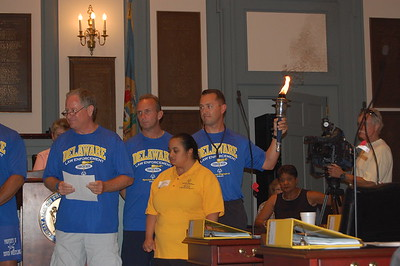 2010 Torch Run - Dover Ceremony