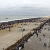 Rooftop photo of the 2012 Polar Bear Plunge at Rehoboth Beach (courtesy of Dennis Forney)